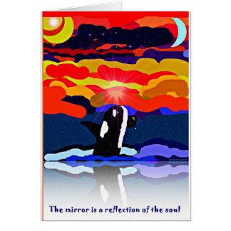 breaching for love Orca design gifts Card