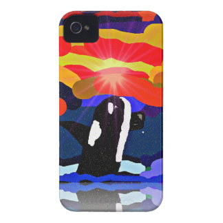 breaching for love Orca design gifts iPhone 4 Covers