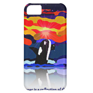 breaching for love Orca design gifts iPhone 5C Case