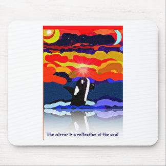 breaching for love Orca design gifts Mouse Pads