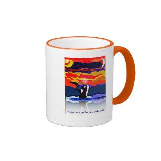 breaching for love Orca design gifts Ringer Mug