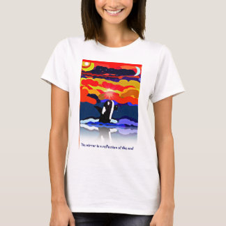 breaching for love Orca design gifts T-Shirt