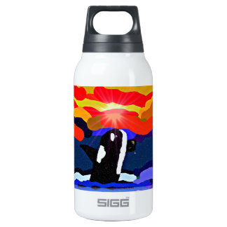 breaching for love Orca design Insulated Water Bottle