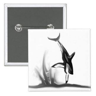 Breaching Great White Shark Hunting a Seal Pinback Button