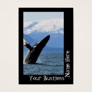 Breaching Humpback Business Card