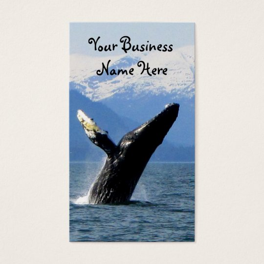 Breaching Humpback Business Card