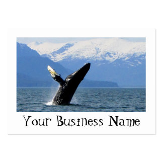Breaching Humpback Large Business Card