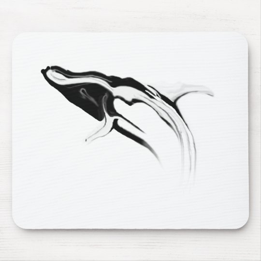Breaching Humpback Whale Drawing Mouse Pad