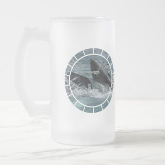 Breaching Humpback Whale Frosted Beer Mug