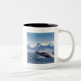 Breaching Humpback Whale In Alaska Two-Tone Coffee Mug
