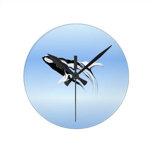 Breaching Humpback Whale Painting Clocks