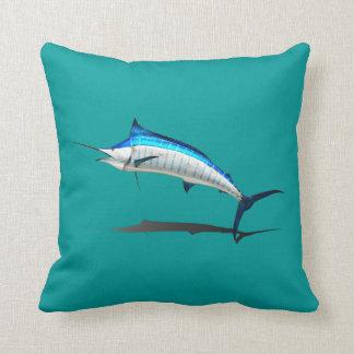 Breaching Marlin Throw Pillow