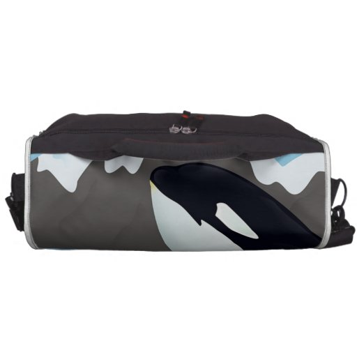 Breaching Orca and Mountains Commuter Bags