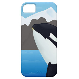 Breaching Orca and Mountains iPhone SE/5/5s Case