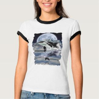 BREACHING ORCA, RAVEN & MOON Ringer T-Shirt
