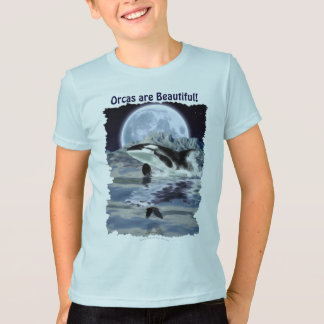 Breaching Orca with Raven & Moon T-Shirt