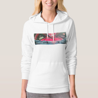 Breaching whale finding truth hoodie