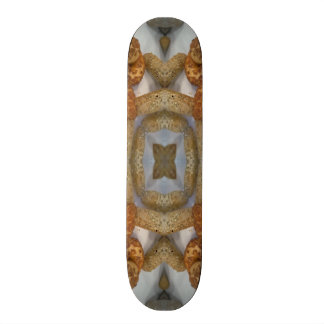 Bread abstract pattern skate deck