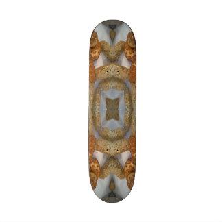 Bread abstract pattern skateboard
