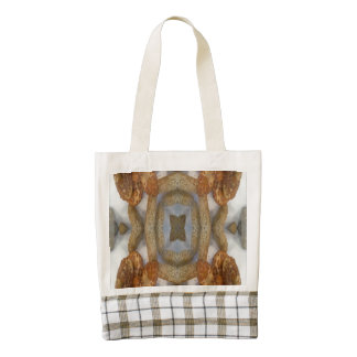 Bread abstract pattern zazzle HEART tote bag