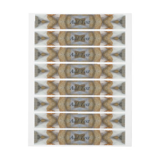Bread abstract pattern wraparound address label
