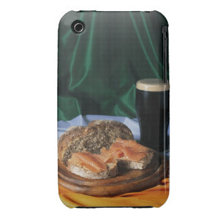 Bread and a glass of beer lying on the Irish iPhone 3 Case