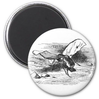 Bread-and-Butterfly 2 Inch Round Magnet