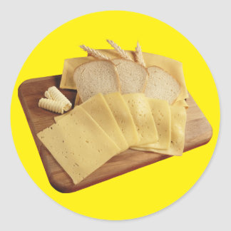 Bread and Cheese Classic Round Sticker