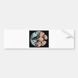 bread-and-fish bumper sticker