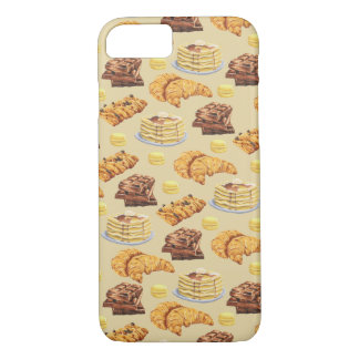 Bread and Pancakes Pattern iPhone 8/7 Case