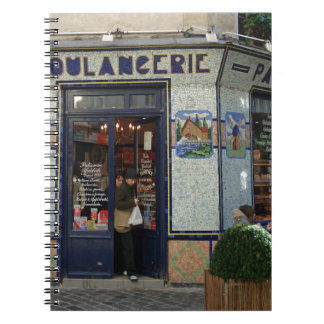 Bread and  Pastries Shop ~ Paris France Notebook