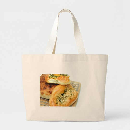 Bread And Rolls Large Tote Bag