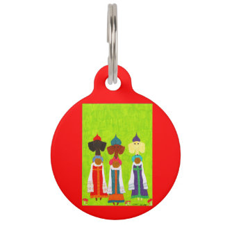Bread and Salt Girls Pet Name Tag
