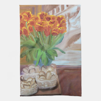 Bread and Tulips Kitchen Towel