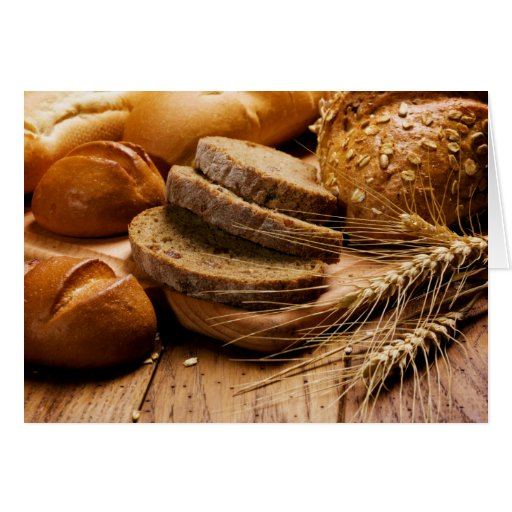 Bread and Wheat Blank Card Cards