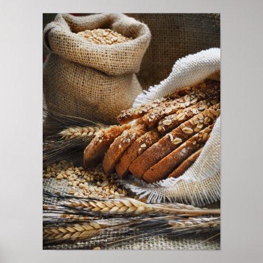 Bread And Wheat Ears Print