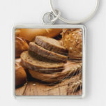 Bread and Wheat Keychain