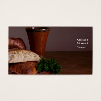 Bread and Wine Business Card