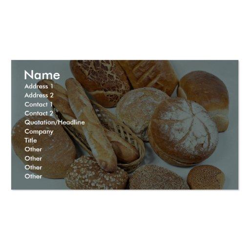 Bread assortment business card templates