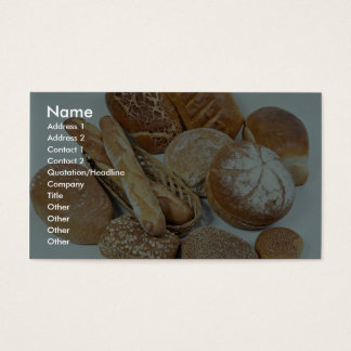 Bread assortment business card