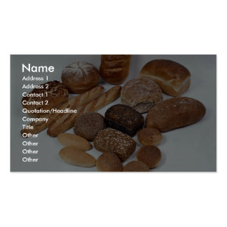 Bread assortment business cards