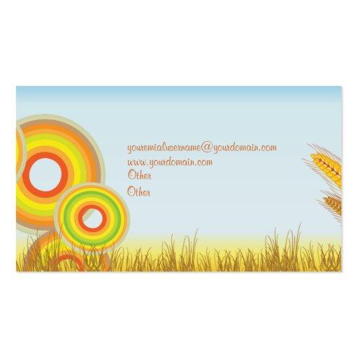 Bread & Bakery Business Business Card (back side)