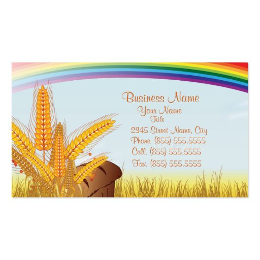 Bread & Bakery Business Business Card (front side)