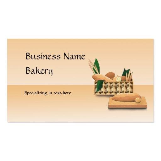 Bread Bakery Custom Business Card
