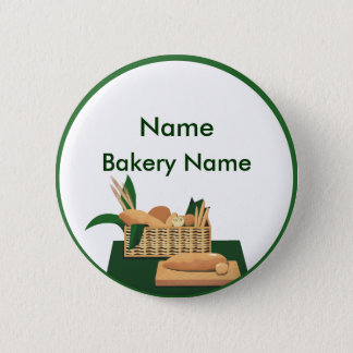 Bread Basket Bakery Name Tag Button