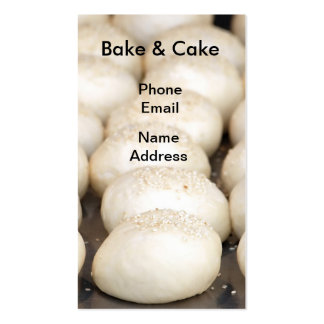 Bread Buns with Sesame Seeds Business Cards