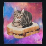 """bread cat  - space cat - cats in space bandana<br><div class=""""desc"""">cat , pet , kittens , kitty , &quot;tabby cat&quot; , &quot;funny cats&quot; , &quot;cute cats &quot;, &quot;cat memes&quot; , &quot;crazy cat &quot;, &quot;cat space &quot;, </div>"""