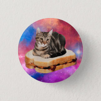 bread cat  - space cat - cats in space button