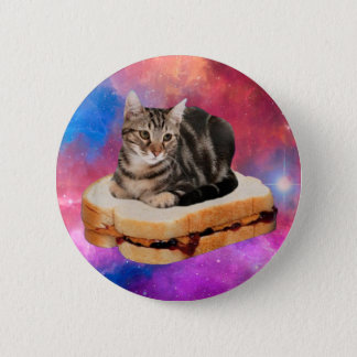 bread cat  - space cat - cats in space pinback button