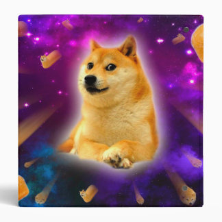 bread  - doge - shibe - space - wow doge 3 ring binder